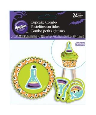 Combi Pack Cupcakes Halloween Yeux set/24 Wilton