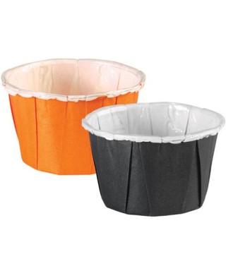 Caissettes Noires et Orange Assorties pk/24 Wilton
