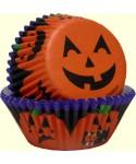 Caissettes cupcake Citrouille d'Halloween set/75 Wilton