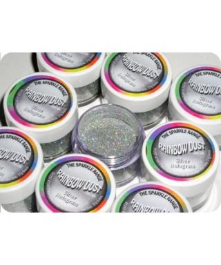 Paillette Argent Hologram Rainbow dust