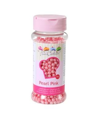 Perle de Sucre Rose nacré 80 gr FunCakes