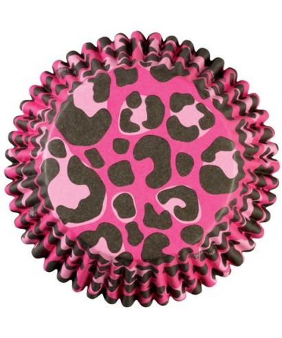 Caissette ColorCups Leopard Rose pk/36 Wilton
