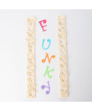 Lettre Funky MajuScule Chiffres et lettres FMM Sugarcraft