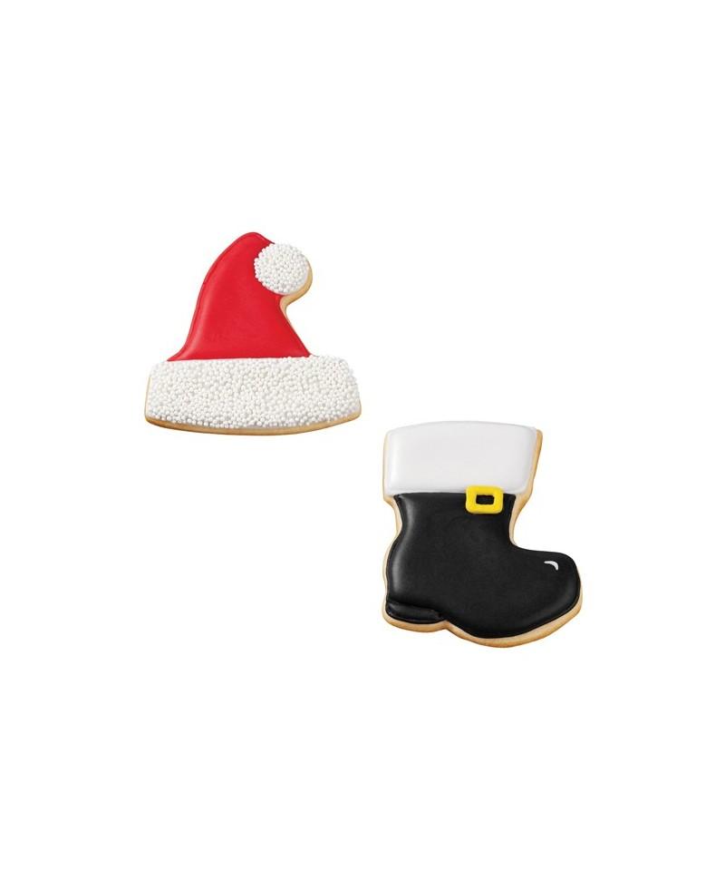 emporte pi ce m tal chapeau gant et botte de no l set 3. Black Bedroom Furniture Sets. Home Design Ideas
