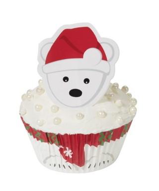 Caissettes à cupcakes Kit Ours blanc pk/24 Wilton