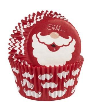 Caissettes à cupcakes Barbe du Père noël pk/75 Wilton