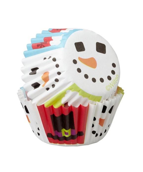 Mini Caissettes à cupcakes Noel pk/100 Wilton