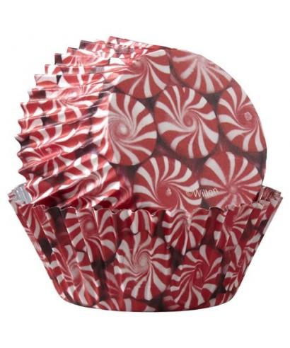 Caissettes à cupcakes ColorCups bonbons de Noël pk/36 Wilton