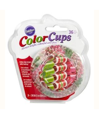 Caissettes à cupcakes ColorCups bonbons rubans pk/36 Wilton