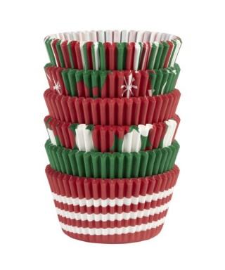Caissettes à cupcakes de Noel pk/150 Wilton