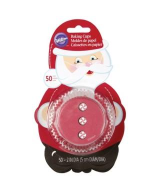 Caissettes rouges Père Noël pk/50 Wilton