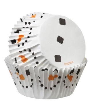 Caissettes à cupcakes olaf pk/50 Wilton