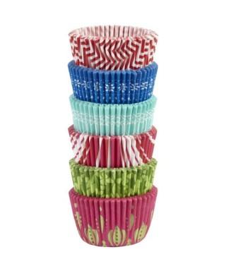 Mini caissettes à cupcakes fêtes de fin d'année pk/150 Wilton