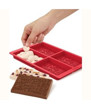 Moule tablette de chocolat de noël Wilton