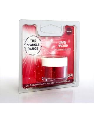 Paillette Bijou Rouge feu Rainbow dust