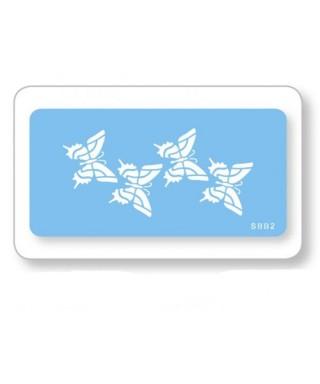 Pochoir souple 4 papillons JEM