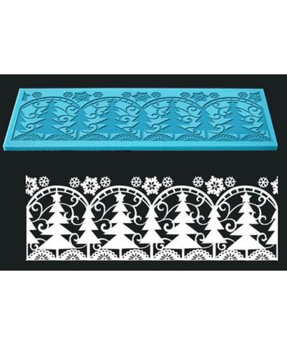 tapis dentelle sapin de no l pour no l a 9 99. Black Bedroom Furniture Sets. Home Design Ideas