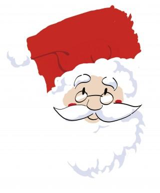 Feuille de pâte à sucre Père Noël