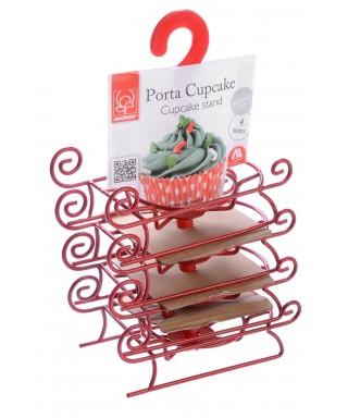 Présentoir à Cupcake en métal traineau de Noël Modécor