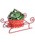 Présentoir à Cupcake en métal traineau de Noël set/ 4 Modécor