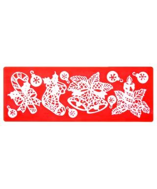 Tapis dentelle décorations de Noël Modécor