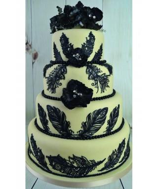 Tapis dentelle Plumes Cake Lace