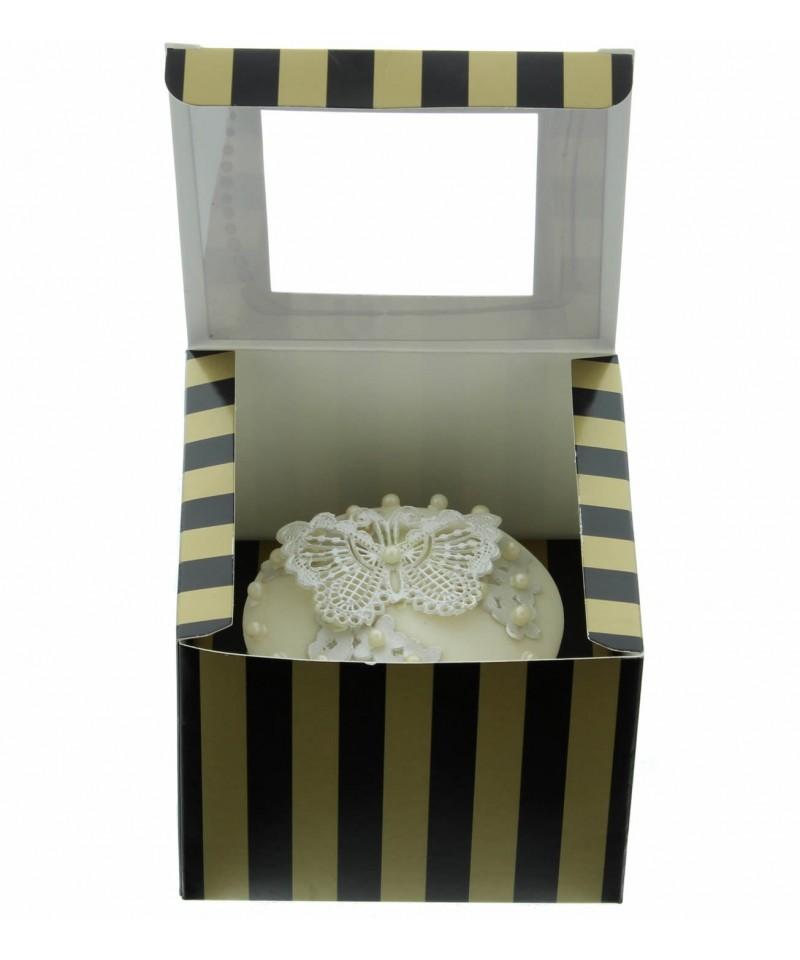 bo te chic pour un cupcakes or et noir. Black Bedroom Furniture Sets. Home Design Ideas