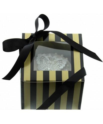 Boîte Chic pour Un Cupcakes Or et Noir