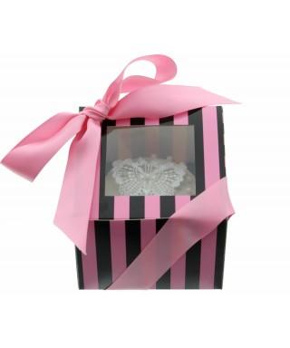 Boîte Chic pour Un Cupcakes Rose et Noir