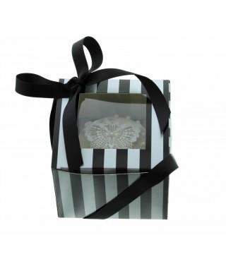 Boîte Chic pour Un Cupcakes Argent et Noir