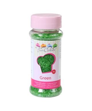 Sucre coloré Vert 80g FunCakes