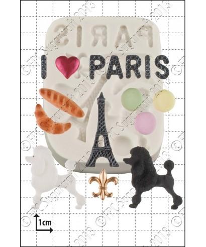 Moule Silicone Paris FPC Sugarcraft