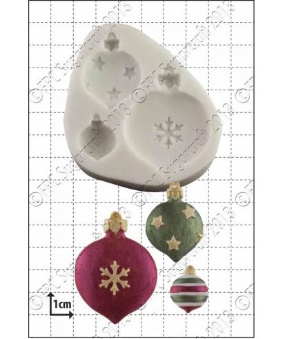 Moule Silicone Boules de Noël FPC Sugarcraft