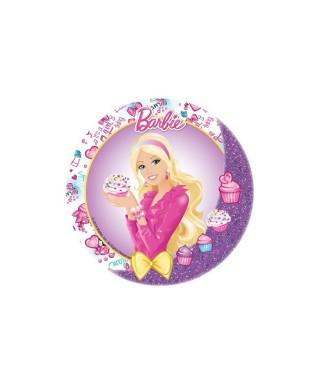 Disque Pâte à sucre Barbie fait des cupcakes