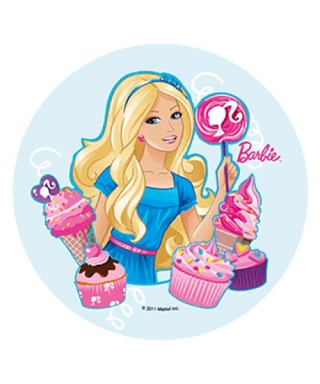 Disque Pâte à sucre Barbie ice-cream
