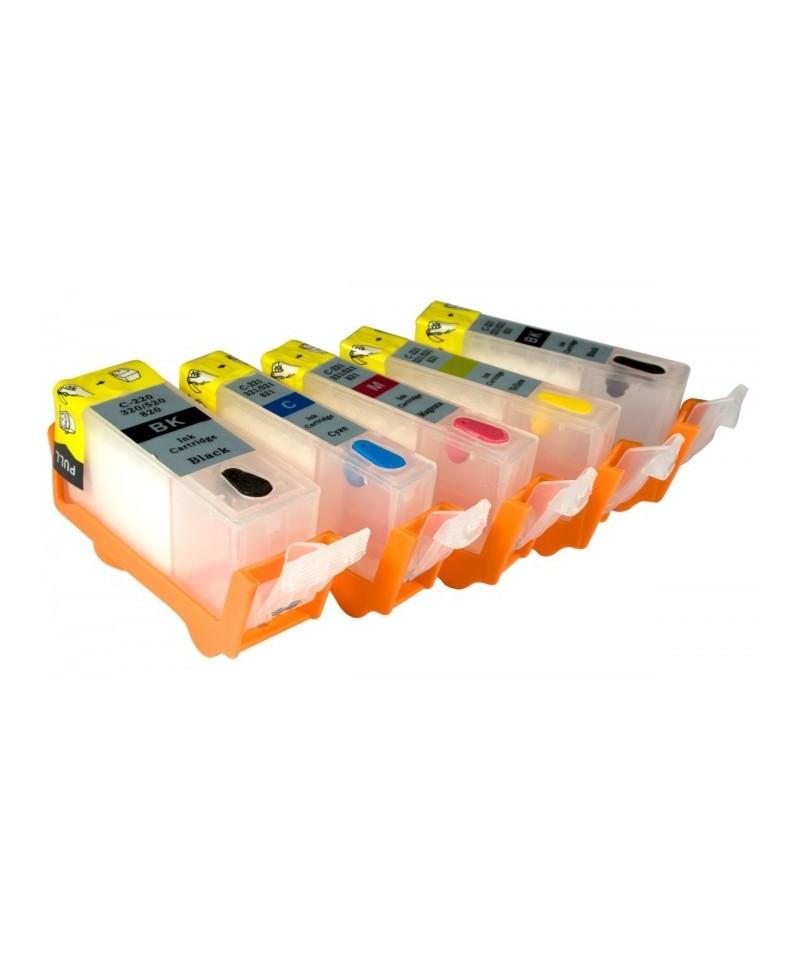Canon Cartouches Alimentaire Ki Imprimante Rechargeables Pour Kit rxeCBod