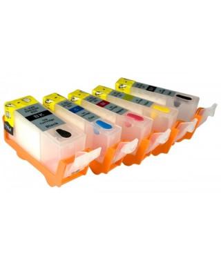 Cartouches rechargeables plus encre alimentaire PGI550/CLI550 Canon