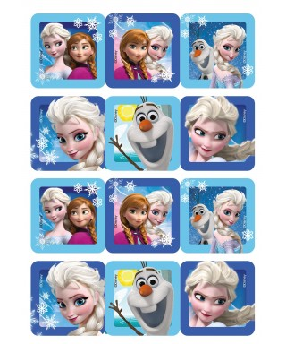 Carré pâte à sucre La reine des neiges set/12 Disney