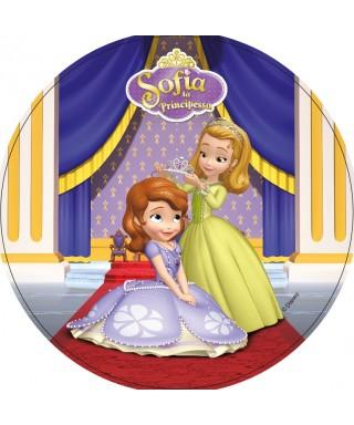 Disque pâte à Sucre Princesses Sofia et Princesse Ambre Disney