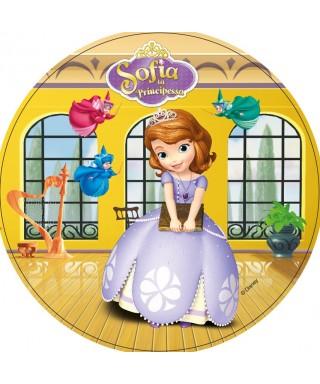 Disque pâte à Sucre Princesses Sofia et les fées Disney