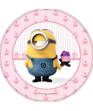 Disque Azyme Minions avec son Cupcake