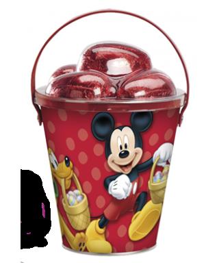 Sceau métal avec œufs en chocolat Mickey et ses amis Disney