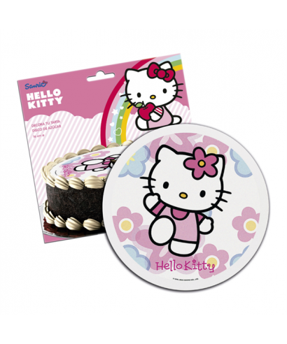 Disque pâte à sucre Hello Kitty