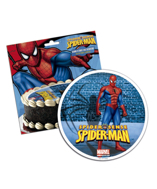 Disque pâte à Sucre Spiderman Marvel