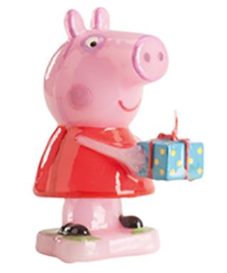 Bougie Peppa Pig et son cadeau 8cm