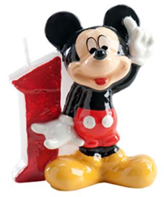 Bougie Mickey Chiffre 1Disney