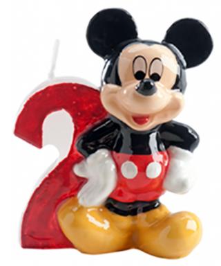 Bougie Mickey Chiffre 2 Disney