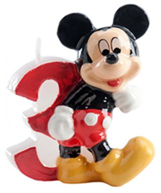 Bougie Mickey Chiffre 3 Disney