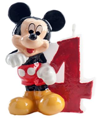Bougie Mickey Chiffre 4 Disney