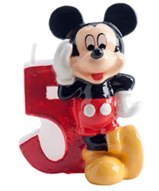 Bougie Mickey Chiffre 5 Disney